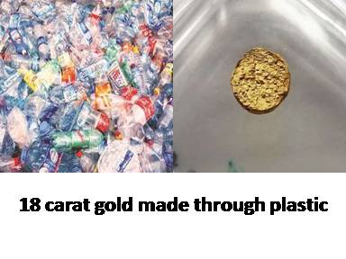 18 carat gold made through plastic