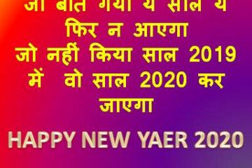 2020 का नया साल मुबारक