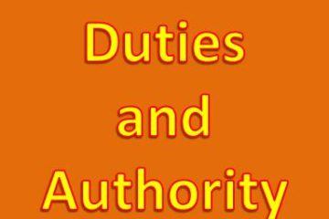 Duties and authority