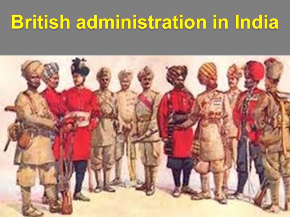 British administration in India